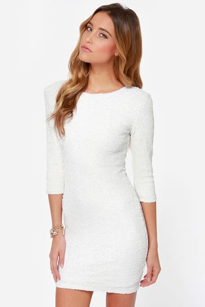 WHITE SEQUIN DRESS - Gunda Daras