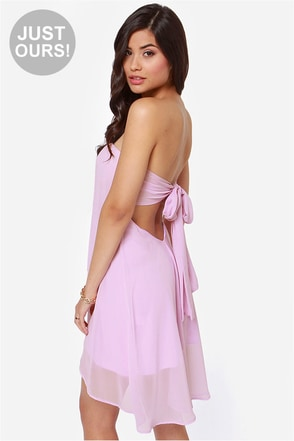 LULUS Exclusive Breathtaking The Cake Strapless Lavender Dress