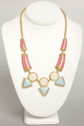 Gem and Us Pink Rhinestone Necklace