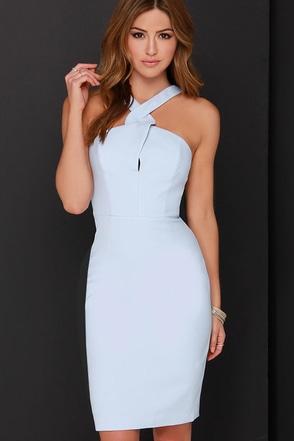 Keepsake New Bloom Light Blue Midi Dress at Lulus.com!
