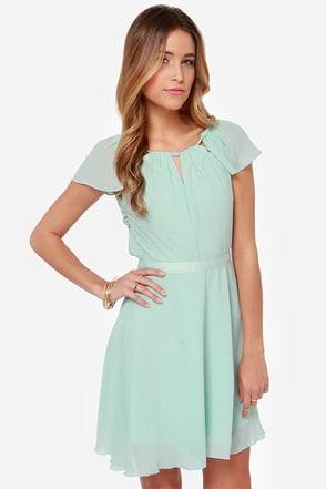 Sweet Escape Mint Blue Dress at Lulus.com!