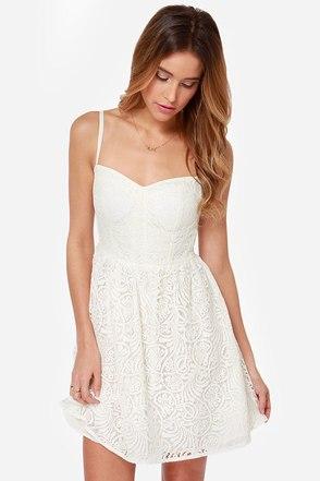 Nice Lace Ivory Lace Dress
