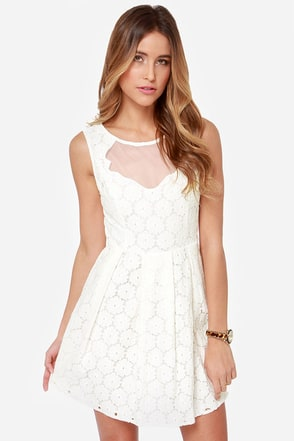 Don't Wanna Bliss a Thing Ivory Lace Dress