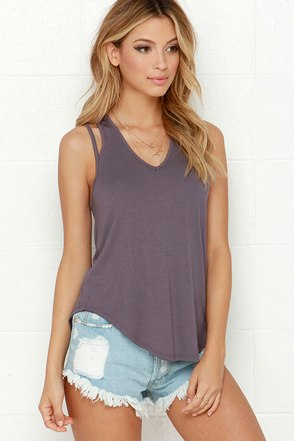 City Life Dusty Purple Tank Top at Lulus.com!