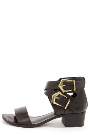 Seychelles Pardon My French Black Leather Sandals