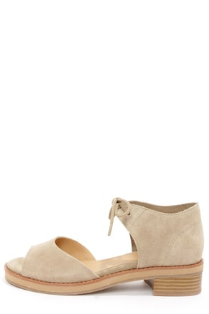 BC Footwear Hard To Tell Sand Suede Sandals