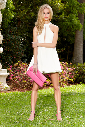 The Rose's Pose Ivory Skater Dress at Lulus.com!
