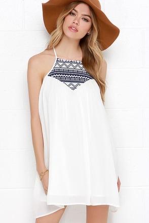 Jack by BB Dakota Bronwen Ivory Embroidered Dress at Lulus.com!