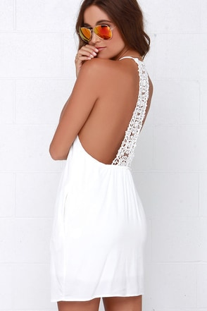 She's a Dream Ivory Lace Dress at Lulus.com!