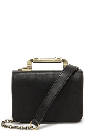 Meet in the Metal Black Mini Handbag at Lulus.com!