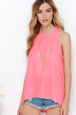 Caught In Candy Lavender Sleeveless Top at Lulus.com!