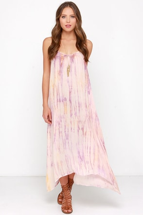 Beach Party Blush Pink Tie-Dye Dress at Lulus.com!