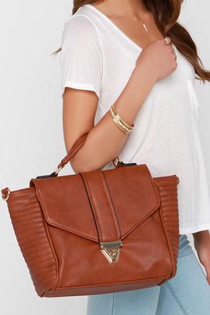 Run This Town Tan Handbag at Lulus.com!
