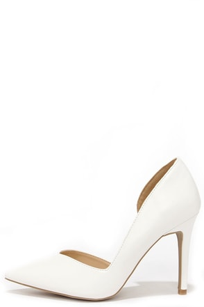 Everyday O-Curve-ence White D'Orsay Pumps at Lulus.com!
