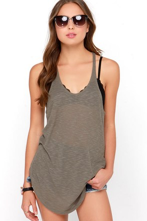 Rule the School Taupe Racerback Tank Top at Lulus.com!