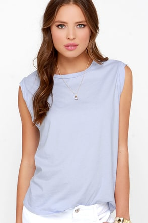 Make a Pact Light Blue Muscle Tee at Lulus.com!