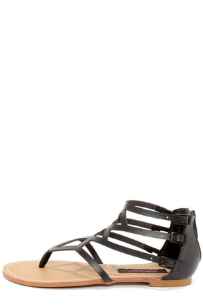 Dollhouse Athens Black Gladiator Sandals