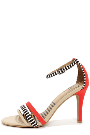 Dolce Vita Suki Candy Apple Striped Single Sole Heels