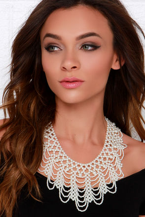 Sweet As Can Be Pearl Statement Necklace at Lulus.com!