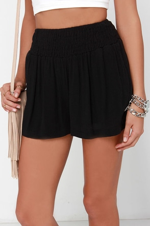Depths of Twilight Black Shorts at Lulus.com!