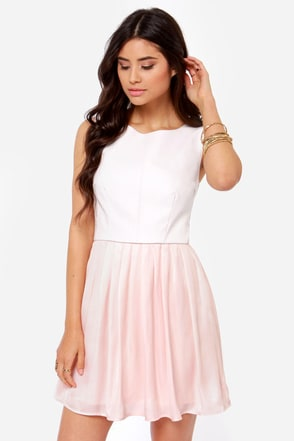Jack by BB Dakota Camille Vegan Leather Blush Dress