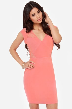Jack by BB Dakota Adalira Pink Lace Dress