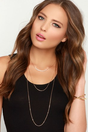 Keep it Stunning Gold Layered Necklace at Lulus.com!