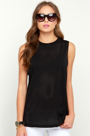 The Fifth Label Stay With Me Black Mesh Tank Top at Lulus.com!
