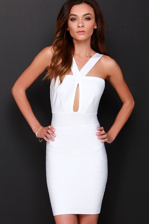 Tried and True Ivory Bodycon Dress at Lulus.com!