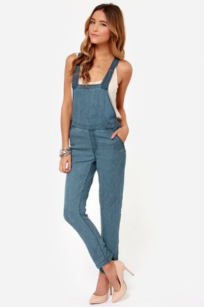 Obey Alexia Blue Overalls