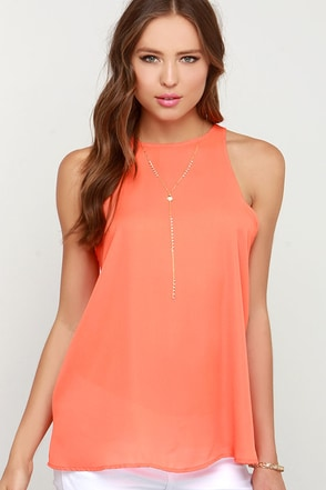 At First Crush Orange Top at Lulus.com!