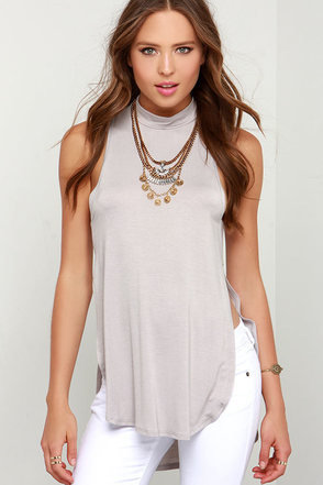 Side Effect Grey Top at Lulus.com!