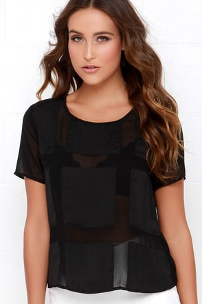 Square It's True Black Top at Lulus.com!