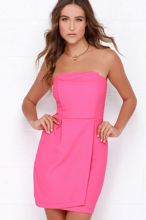 Take a Sweet Hot Pink Strapless Dress at Lulus.com!
