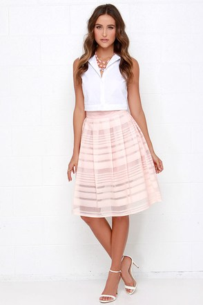 Mid Thought Ivory Midi Skirt at Lulus.com!