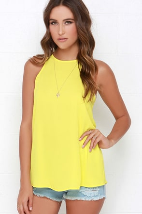 At First Crush Yellow Top at Lulus.com!