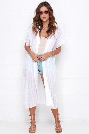 Moon-made Mirage Ivory Kimono Top at Lulus.com!