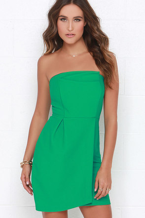 Take a Sweet Green Strapless Dress at Lulus.com!