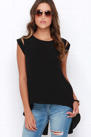 Tail the World Black Top at Lulus.com!