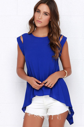 Tail the World Royal Blue Top at Lulus.com!