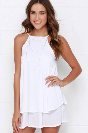 Dee Elle Whimsical Whim Ivory Dress at Lulus.com!