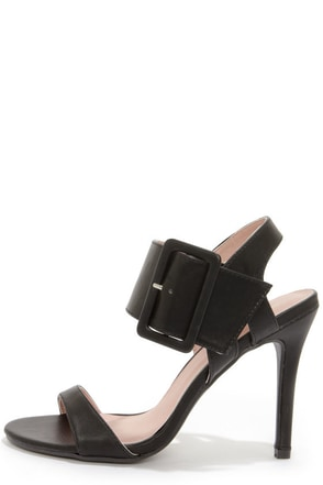 Shoe Republic LA Fabia Black Dress Sandals