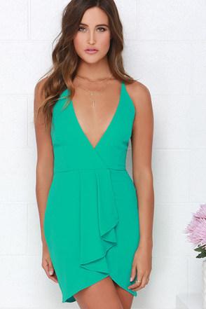 To Be Loved Teal Green Dress at Lulus.com!