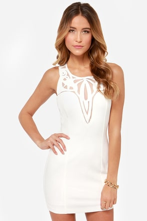 The Real Deluxe Ivory Dress