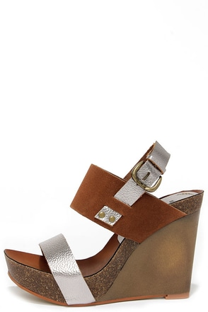 Mia Heritage Foxy Pewter Suede Leather Wedges at Lulus.com!