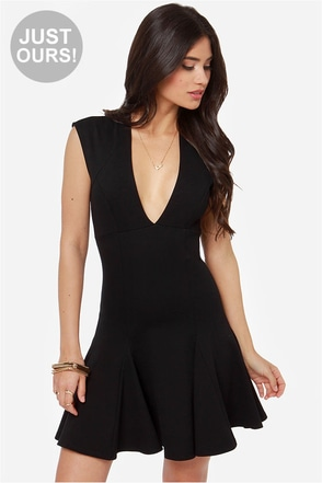 LULUS Exclusive Fine By Me Black Dress