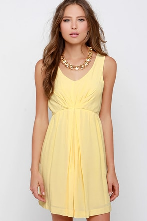 Black Swan Transparent Yellow Dress at Lulus.com!