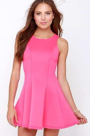 Call Me Maybe Hot Pink Dress at Lulus.com!