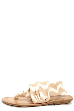 Dirty Laundry Beebop Zig Zag Natural Thong Sandals