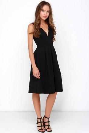 Steal a Million Black Midi Dress at Lulus.com!